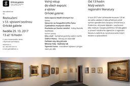 Výstavní sály Orlické galerie zvou na návštěvu