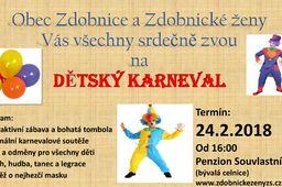 Dětský karneval Zdobnice