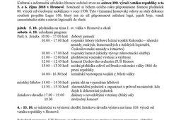 Oslavy 100. výročí vzniku republiky v Hronově